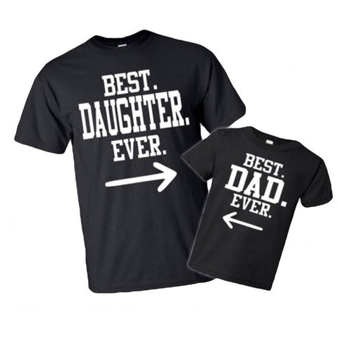 SET OF 2 Father daughter Matching Tshirts