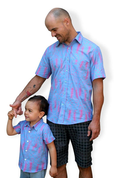 Father son matching shirts set