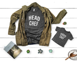 Head Chef & Sous Matching Father Daughter Shirts