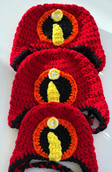 Matching Hats, The Incredibles inspired winter hat