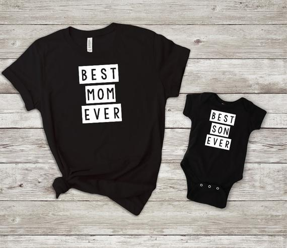 best mom ever best son ever Tshirts(SET)