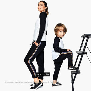 Matching Black Pants/Jogger Pants/Mother And Son Pants