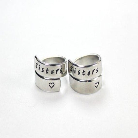 Personalized Matching Spiral Ring SET