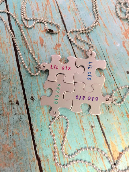 Personalized Puzzle Piece Necklaces
