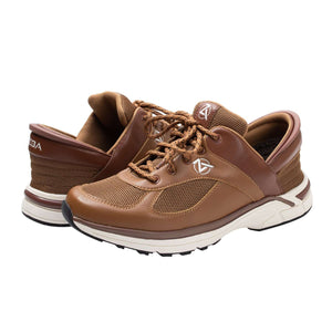 Brown Zeba Shoe Product Image Both Shoes