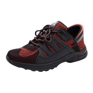 Obsidian Red Zeba Shoes Product Front Laces