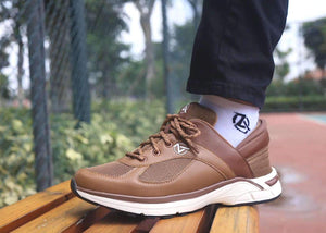 Brown Zeba Shoe Product Model Standing