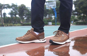 Brown Zeba Shoe Product Image Model Outside