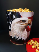 Load image into Gallery viewer, MAGACORN  GOURMET POPCORN, Americana Tin, 3.5 Gallon, ORIGINAL FLAVORS