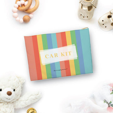 Car Kit Colorful Stripes Pouch - The Everyday Mother