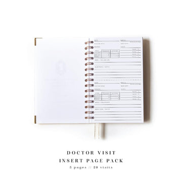 Doctor Visit Notes Add-On Page Pack for The Everyday Mother Full Size Book - The Everyday Mother