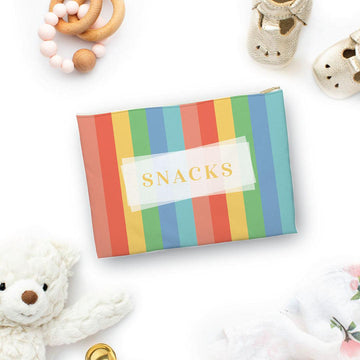 Snacks Colorful Stripes Pouch - The Everyday Mother