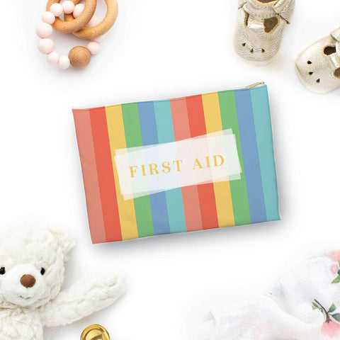 First Aid Colorful Stripes Pouch