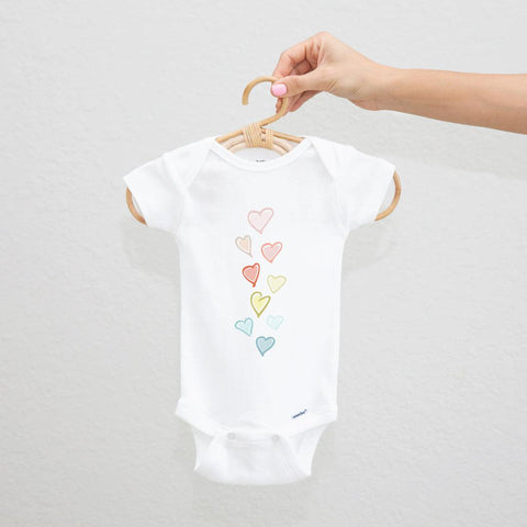 Sweet Hearts Ombré Rainbow Onesie - The Everyday Mother