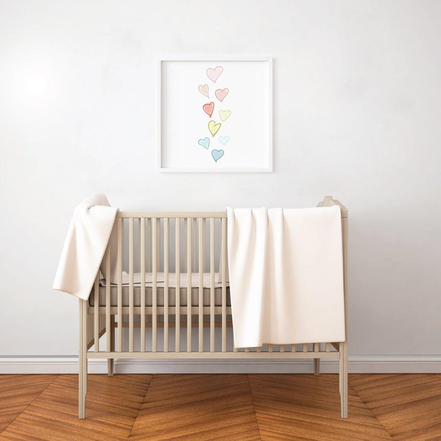 Sweet Hearts Art Print Home and Nursery Decor - The Everyday Mother