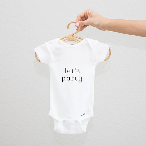 Let's Party Onesie (12 colors!)