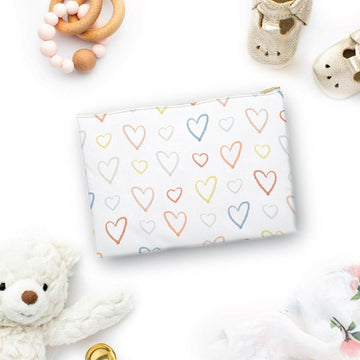 Painted Hearts Accessory Pouch - The Everyday Mother