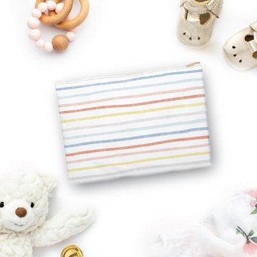 Painted Stripes Accessory Pouch - The Everyday Mother