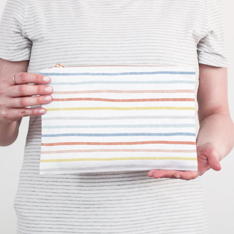 Painted Stripes Accessory Pouch