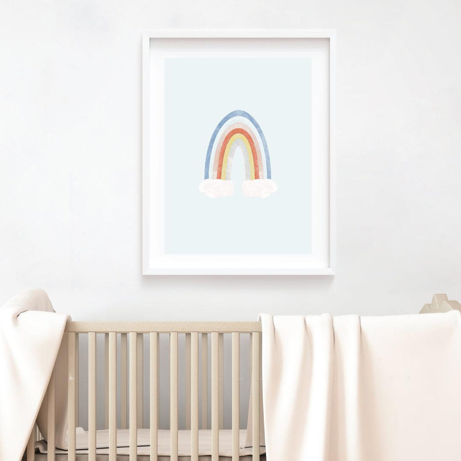 Rainbow Fine Art Print - Blue - The Everyday Mother