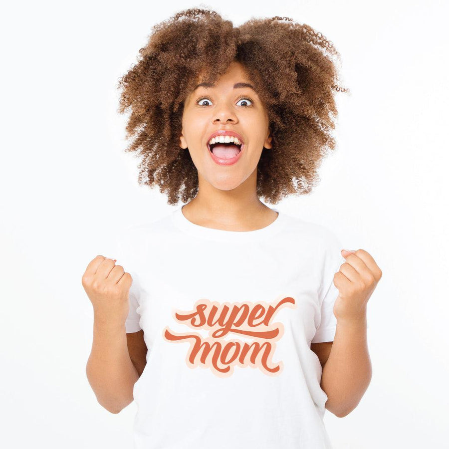 Super Mom Retro Soft Spun Women's Tee - The Everyday Mother