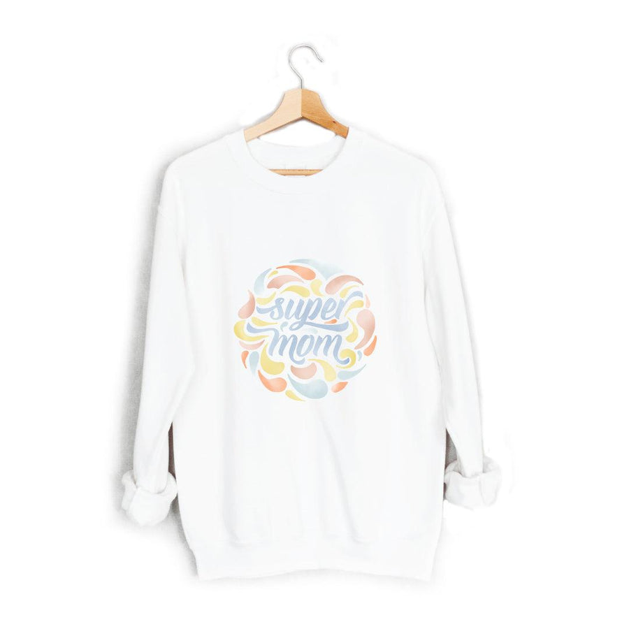 Super Mom Watercolor Sweatshirt - The Everyday Mother