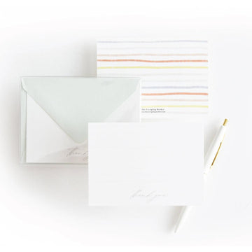 Painted Stripes Thank You Note Card Set - The Everyday Mother