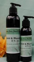 Joint and muscle rub made with emu oil from 3 Feathers Emu Ranch
