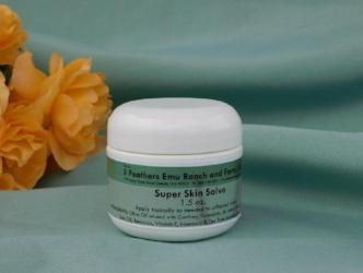1.5 oz jar Super skin salve made with emu oil from 3 Feathers Emu Ranch