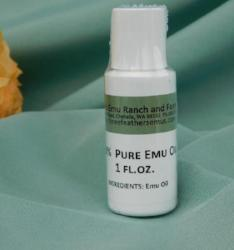 1oz bottle Pure Emu Oil--AEA Certified Fully Refined from 3 Feathers Emu Ranch