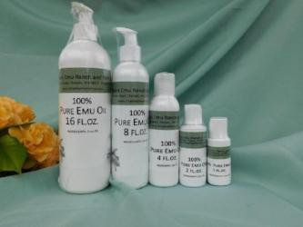 Pure Emu Oil--AEA Certified Fully Refined from 3 Feathers Emu Ranch
