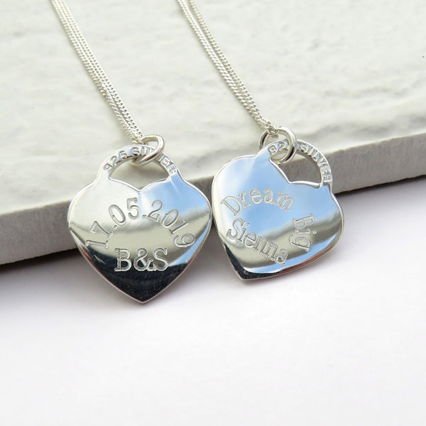 Beautiful Personalised Rockwell Necklace Heart Tag