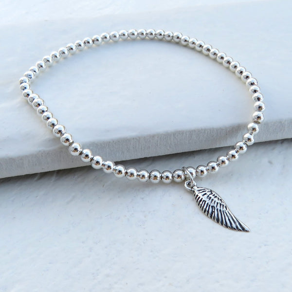 Angel Wings Appear When Near Silver Mini Bracelet