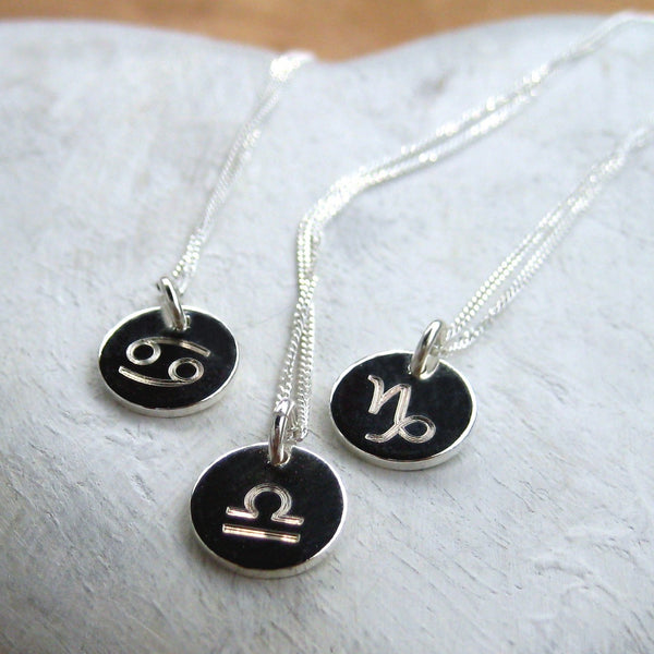My Zodiac Silver Charm Necklace