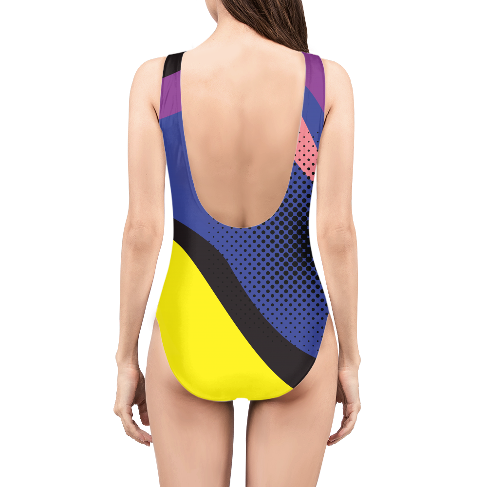 Pop Art Yellow Womens All-Over Print  One-Piece Swimsuit