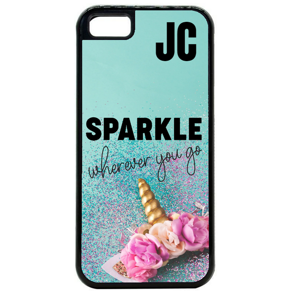 Initial Sparkle Phone Case