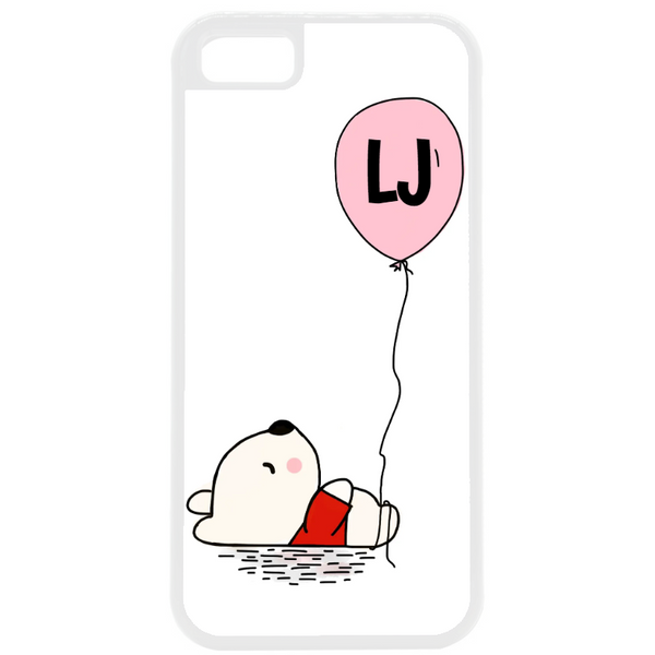 Initial Teddy Phone Case