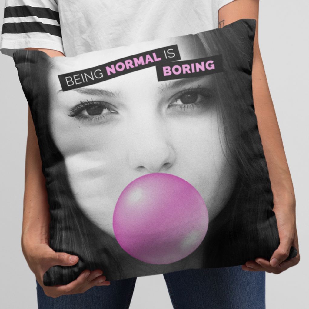 Your Photo Personalised Iconic Marilyn Monroe Blowing Bubble Inspired Cushion