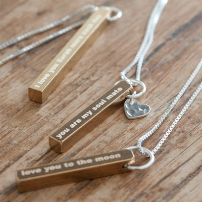 Personalised Raw Brass Necklace