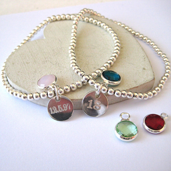 Clarendon Bracelet - Mini Disc - Birthstone