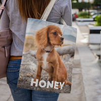 Any Picture and Name Design 3D Tote Bag