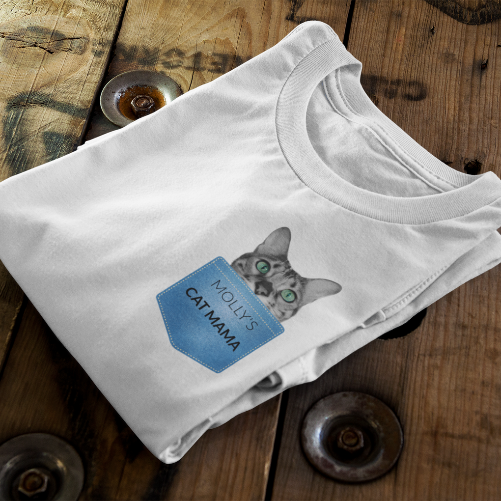 Cat Mama Personalised T-Shirt
