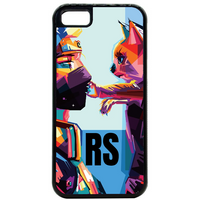 Initial Pop Art Cat Phone Case