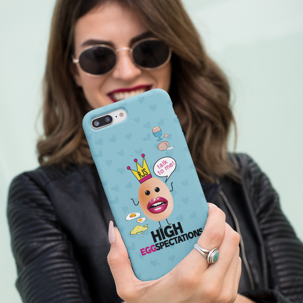 High Eggspectations Initials Phone Case