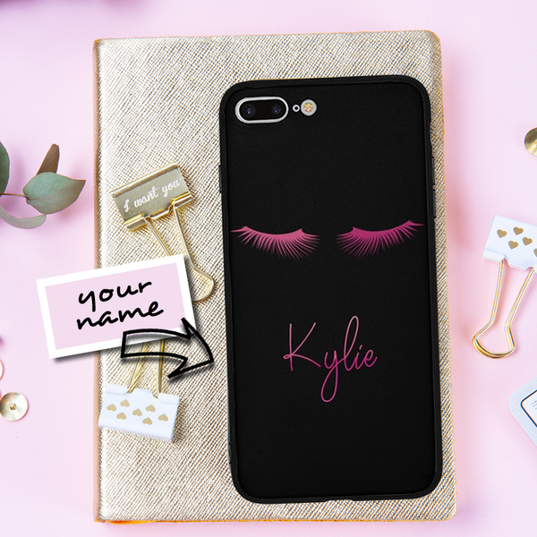 Eyelash Custom Name Phone Case