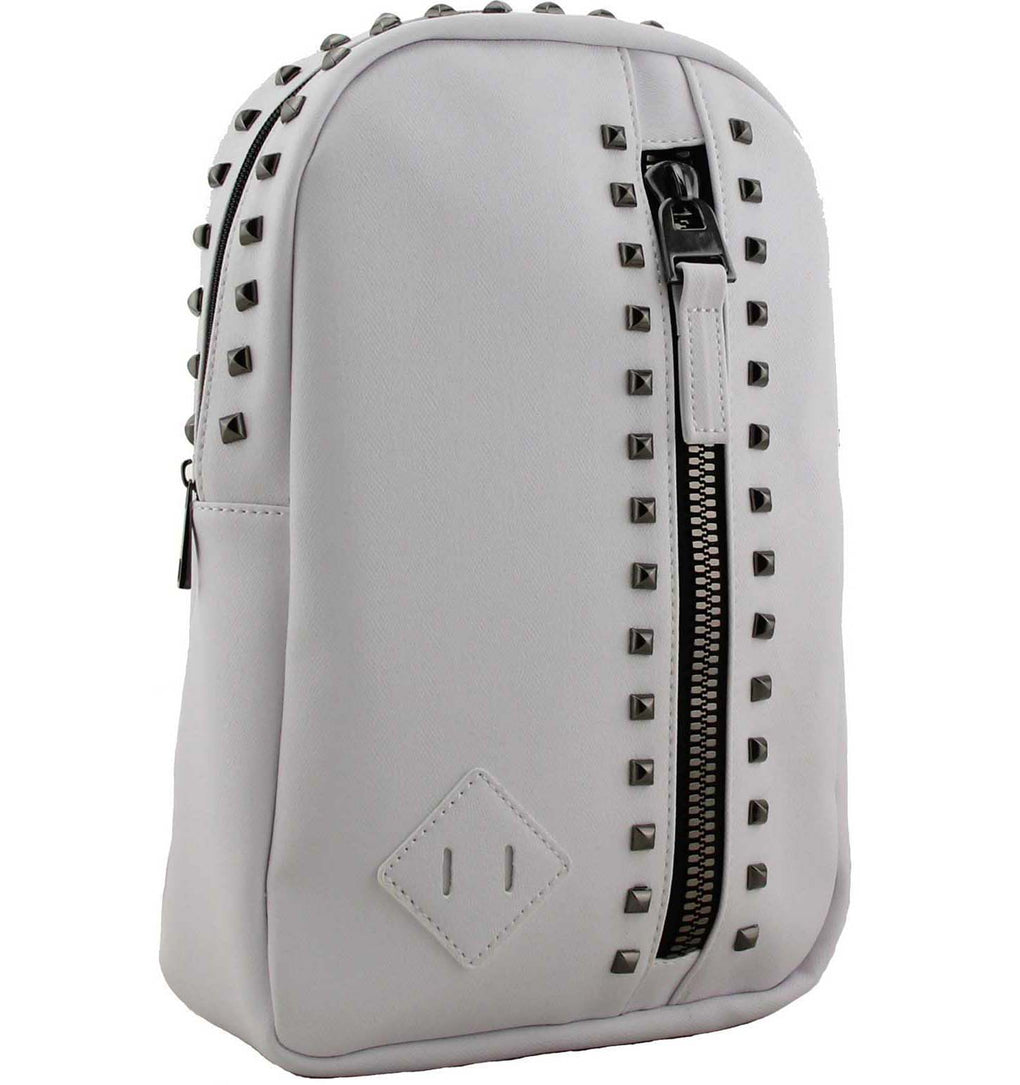 Candice Studded Backpack in White