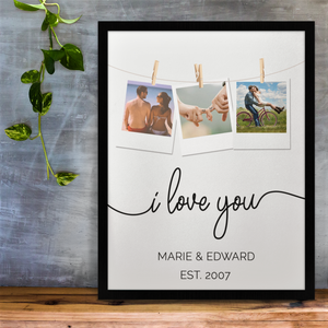 I Love You Personalised Photo Print