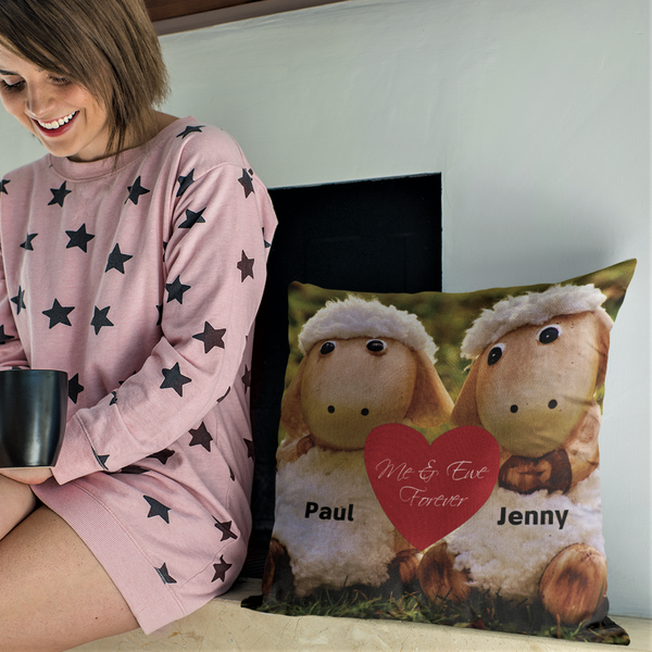 Me & Ewe Forever Personalised Cushion