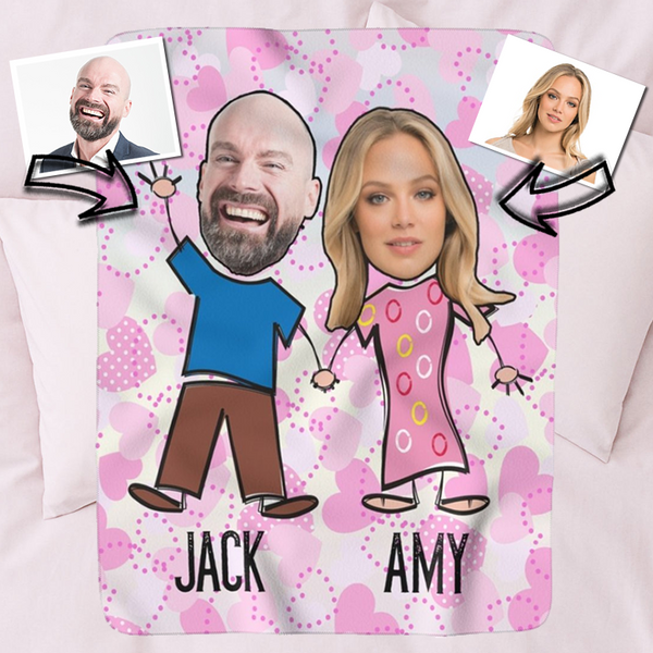 Loved Up Face And Name Fleece Blanket