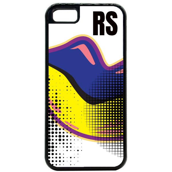 Initial Lips Pop Art Phone Case